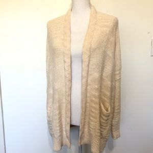 Anthropologie Open Front Cardigan Pockets Large
